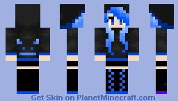 Blue End Dragon Minecraft Skin