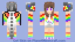 Rainbow Dragon Girl (My skin!) Minecraft Skin