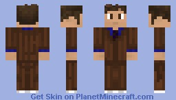 The Tenth Doctor - Remastered - Two variations! Minecraft Skin
