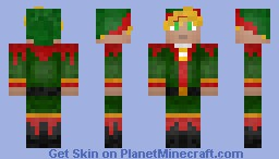 Minecraft Christmas elf-Christmas contest Minecraft Skin