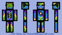 Pixel hippy Minecraft Skin