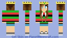 Fangirl DusDavidGames Minecraft Skin