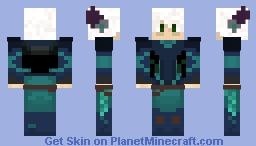 Tired Moonshadow Elf Minecraft Skin