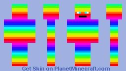 rainbow boy Minecraft Skin