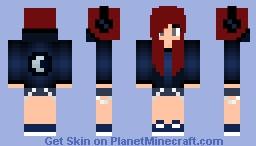 Moon Hoodie Minecraft Skin