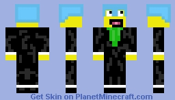 awesome face in  a suit (included diamond helmet which you can take off) Minecraft Skin
