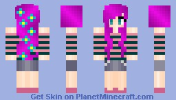 sweet pink hair girl Minecraft Skin