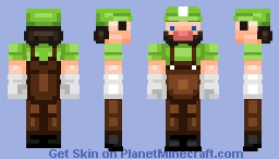 PMC Members: YT Captain Green Minecraft Skin