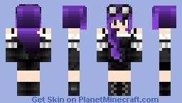 Purple Hair Girl Minecraft Skin