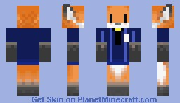 Fox manager Minecraft Skin