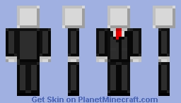 Smooth SlenderMan Minecraft Skin