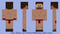 Nude steve Minecraft Skin