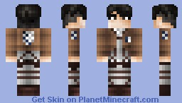 attack on titan levi heichou minecraft skin