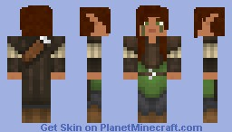 Male Wood Elf Minecraft Skin