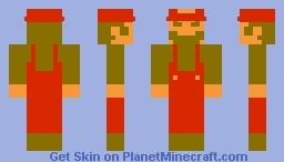 Classic Retro Mario Minecraft Skin