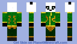 Pandaren from World of warcraft Minecraft Skin