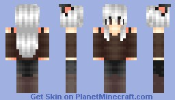 My own personal skin/ OC Chocolate eyes Minecraft Skin