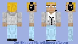 Sweatshirt & Jeans (+ Headset) Minecraft Skin