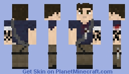 Jason Brody, 3D Features/Dual Arms Minecraft Skin
