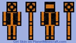 Black & orange armor Minecraft Skin