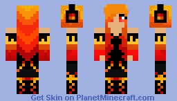 Neon Elements - Fire Minecraft Skin
