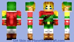-=Hylian Legend Link=- 1.8 Skin ~Chibi~ Minecraft Skin