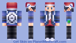 Lucas Pokemon Platinum Trainer Minecraft Skin - Skin para minecraft pe de pokemon