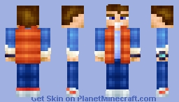 Marty McFly (3D Skin Format) Minecraft