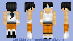Chell from Portal 2 Minecraft Skin
