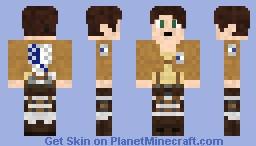 Eren from Attack on Titan Minecraft Skin