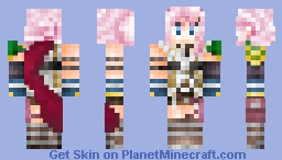 Lightning (1.8 version) from Final Fantasy XIII Minecraft Skin