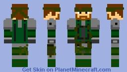 Metal Gear - Solid Snake [Now 1.8 3D] [1.7 In Desc.] Minecraft Skin