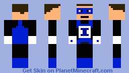 Blue Lantern Minecraft Skin