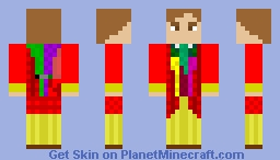 The Sixth Doctor, Colin Baker Minecraft Skin