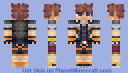 Sora (Kingdom Hearts Two) Minecraft Skin