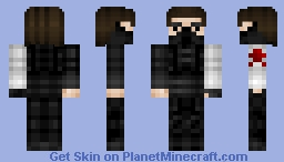 The Winter Soldier (Captain America) Better in preview Minecraft Skin