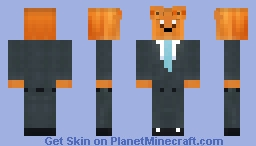 Ginger Cat in A Suit Minecraft Skin