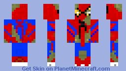 Zombie Spider-Man Minecraft Skin