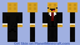Happy Waffle In suit Minecraft Skin