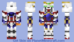 God Gundam (1.8) from G-Gundam Minecraft Skin