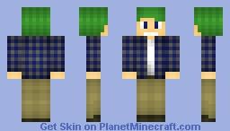 Teen in Plaid Minecraft Skin