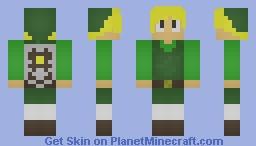 Link - Legend of Zelda The Wind Waker Minecraft Skin