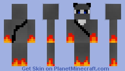 Flame Panda Ninja Minecraft Skin