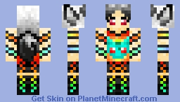 Goth Fox Bulbasaur shirt Minecraft Skin