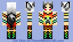 Goth Rainbow Fox Minecraft Skin
