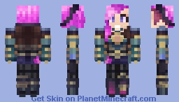 [League of Legends] Vi, the Piltover Enforcer Minecraft Skin