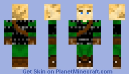 Elf in armor Minecraft Skin