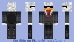 Chicken in suit Minecraft Skin