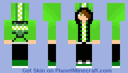 Green MEAN Machine Minecraft Skin