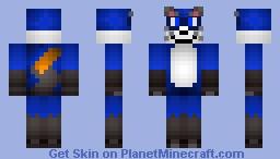 Cute Blue Fox/Cat Skin! Better in 3D Minecraft Skin